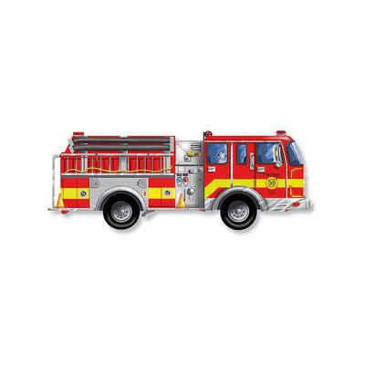 Melissa & Doug Puzzle »Fußbodenpuzzle - Riesiges Feuerwehrauto, 24 Teile«, Puzzleteile
