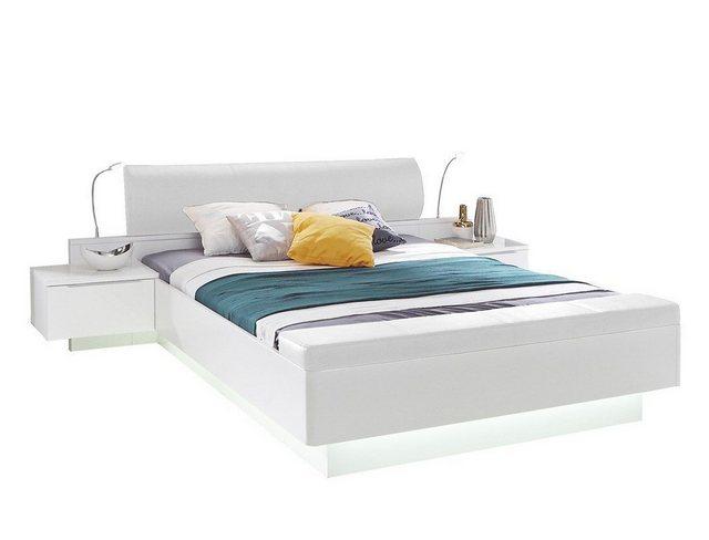 Schlafzimmer Sets - expendio Schlafzimmer Set »Sophie 20B«, (Spar Set, 6 tlg), weiss 180x200 cm mit Beleuchtung inkl. Nachtkonsolen und ausklappbarer Fußbank  - Onlineshop OTTO