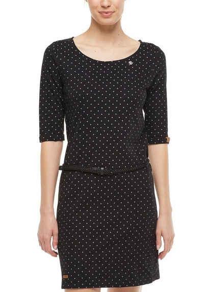 Ragwear Jerseykleid »TAMY« (2-tlg., mit abnehmbarem Gürtel) mit Dots-Allover-Print