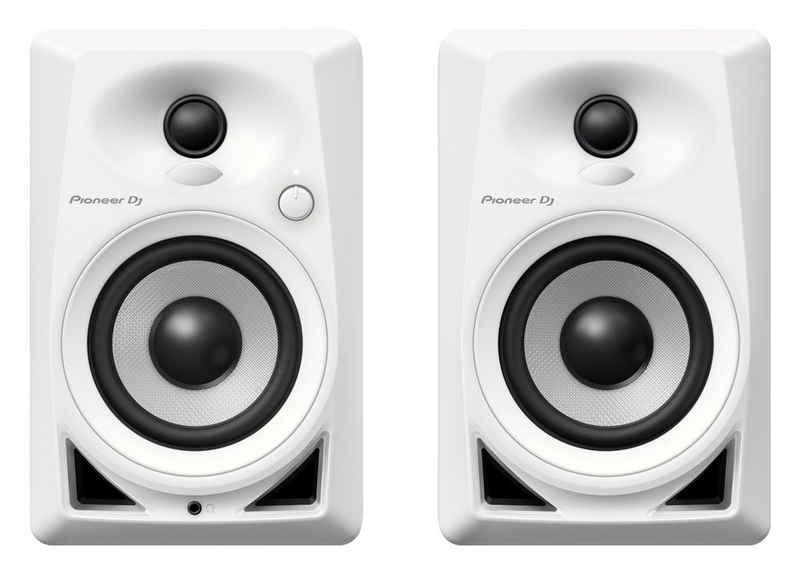 Pioneer DJ DM-40 Stand-Lautsprecher (50 W, 2 aktive Studio Monitor-Lautsprecher, Class AB-Verstärker)