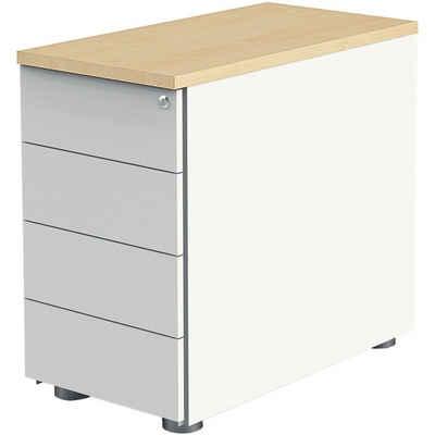 KERKMANN Container, Rollcontainer »Move 4« mit 4 Schubladen und Zentralverschluss