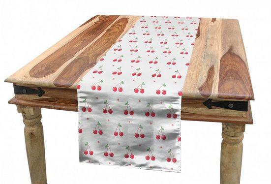 Abakuhaus Tischläufer »Esszimmer Küche Rechteckiger Dekorativer Tischläufer«, Kirsche Sommer-Frucht und Tupfen
