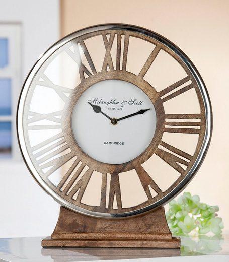 GILDE Standuhr »Uhr Negro« (1-St), Höhe 34 cm, rund, römische Zahlen, Wohnzimmer