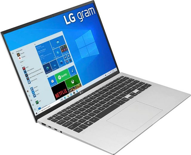 LG 16Z90P-G.AA79G Notebook 40,6 cm 16 Zoll, Intel Core i7, Iris Xe Plus Graphics, 1000 GB SSD, Kostenloses Upgrade auf Windows 11, sobald verfügbar