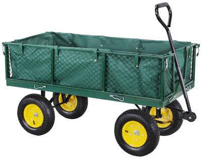 miweba Bollerwagen »MB-700«, Plane - Wände klappbar - 700 Kg Traglast - Luftreifen - Volumen 150 L - Gartenkarre – Transportwagen - Schubkarre - Gartenwagen