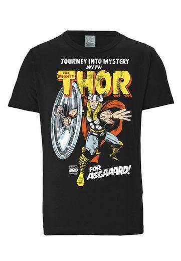 LOGOSHIRT T-Shirt mit coolem Frontprint »Thor - Marvel - For Asgaaard!«