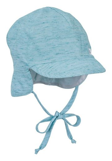 Sterntaler® Schirmmütze »Schirmmütze mit Nackenschutz« (1-St) mit Bio-Baumwolle; mit Nackenschutz, angeschnittenen Ohrenklappen und Bindeband; gefüttert mit Batist