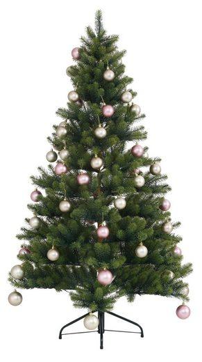 Creativ deco Künstlicher Weihnachtsbaum »Fertig geschmückt«, mit 60 Kugeln und LED Beleuchtung