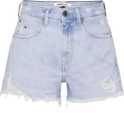 Tommy Jeans Shorts »Hotpant Denim Short SAE114 SLBCD« mit Destroyed Effekten & ausgefranstem Saum