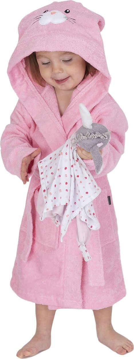 Kinderbademantel »8024«, Wewo fashion, mit niedlicher Hasenkapuze