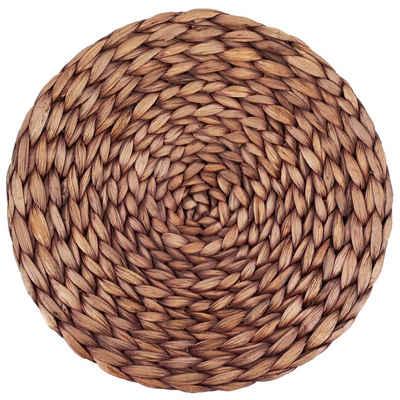 Platzset, »Tischset rund geflochten aus Wasserhyazinthe«, Decorasian, (Set, 4 Stück-St., 4 Stück, 6 Stück, 8 Stück, 12 Stück), Untersetzer nachhaltig, 35cm Durchmesser Platzteller