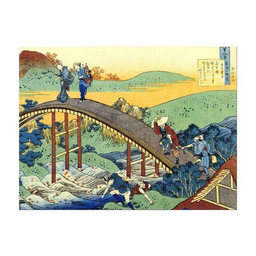 Bilderdepot24 Leinwandbild, Leinwandbild - Katsushika Hokusai - Ariwara no Narihira Ason