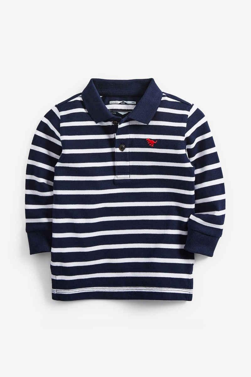Next Poloshirt »Langärmeliges Poloshirt mit Streifen« (1-tlg)