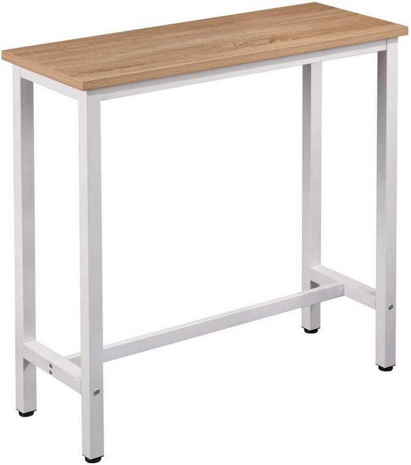 Woltu Bartisch, Bartisch aus Metall, Tischplatte aus MDF, 100x40cm