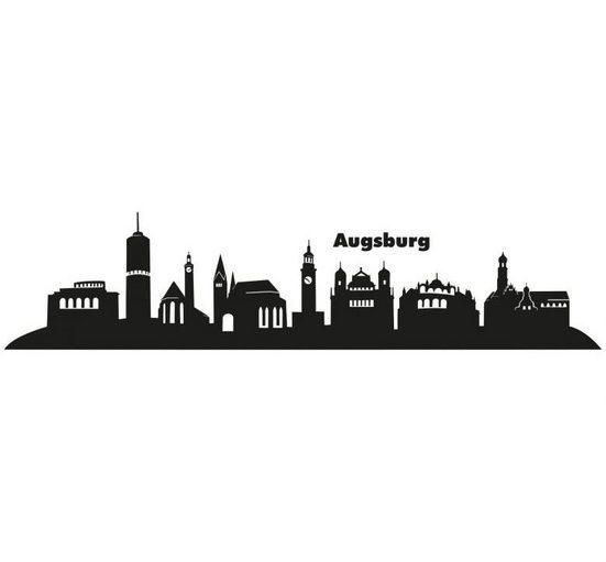 Wall-Art Wandtattoo »XXL Stadt Skyline Augsburg 120cm« (1 Stück)