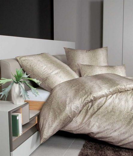 Bettwäsche »khaki«, Janine, hochwertige Mako Satin Qualität
