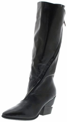 A.S.98 »510306 Nero Damenstiefel Lederstiefel Schwarz« Stiefel