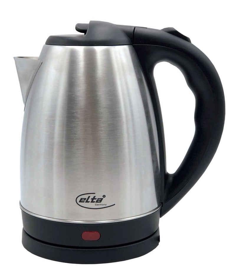 Elta Wasserkocher, 1.8 l, 1800 W, Elta Edelstahl Wasserkocher 1,8L Teekocher Wasser Tee Wasserkessel 1800W