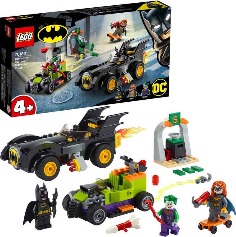 LEGO® Konstruktionsspielsteine »Batman™ vs. Joker™: Verfolgungsjagd im Batmobil (76180), LEGO® DC Comics Super Heroes«, (136 St), Made in Europe