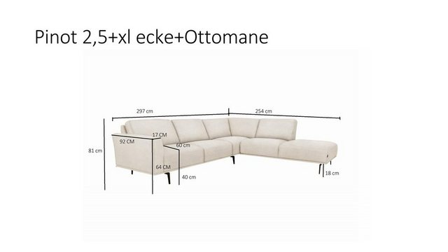 Sofas - furninova Ecksofa  - Onlineshop OTTO