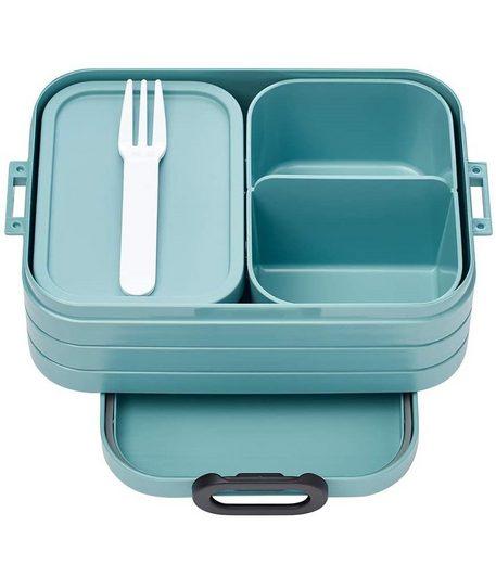 Mepal Lunchbox »Bento Box Take a Break midi Nordic Green«, TPE/PP/ABS, (1-tlg), BPA-frei