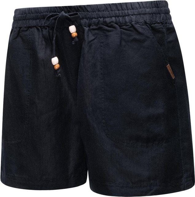 Hosen - Ragwear Shorts »Keito Organic« leichte kurze Leinenhose mit Tunnelzugband › blau  - Onlineshop OTTO