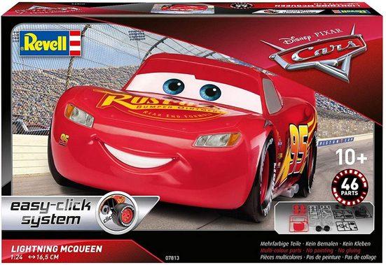 Revell® Konstruktions-Spielset »Revell 07813 - Disney Cars - Lightning Mc Queen - Modelbausatz - Easy Click System«