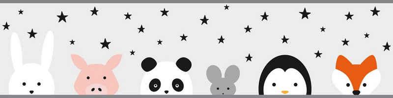 A.S. Création Bordüre »Wild Stars«, glatt, für Baby- und Kinderzimmer, selbstklebend, PVC-frei