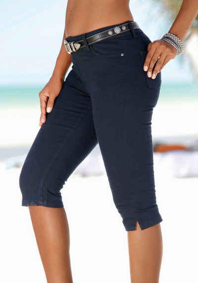 Sheego Damen Jeans 7//8 Hose Caprihose Gr NEU 231 40 bis 54 blau marine