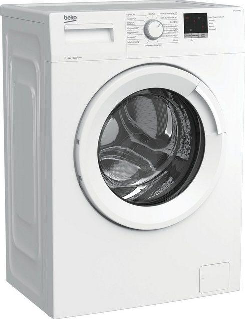 BEKO Waschmaschine WML61023NR1, 6 kg, 1000 U min