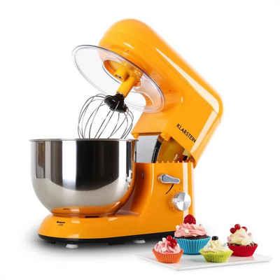 Klarstein Küchenmaschine Bella Küchenmaschine 2000 W / 2,7 PS 5 Ltr Edelstahl BPA-frei, 1200 W, 5.2 l Schüssel