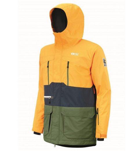 Picture Skijacke »PICTURE Pure Hardshell-Jacke schützende Ski-Jacke für Herren Snowboard-Jacke Gelb/Blau/Grün«