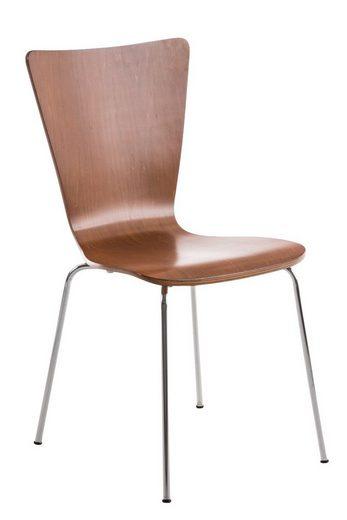 CLP Besucherstuhl »Aaron«, mit ergonomisch geformten Holzsitz und Metallgestell