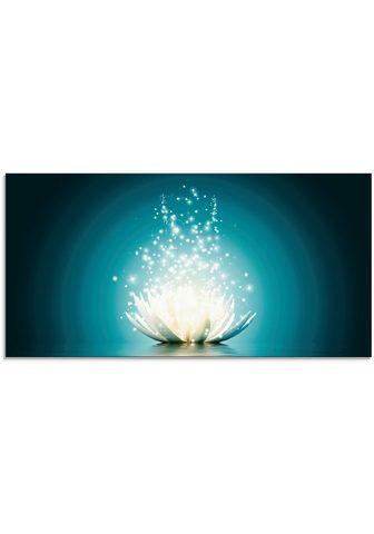 Artland Stiklinis paveikslas »Magie der Lotus-...