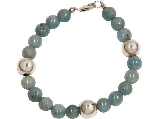 Gemshine Perlenarmband »Aquamarin«, Made in Germany