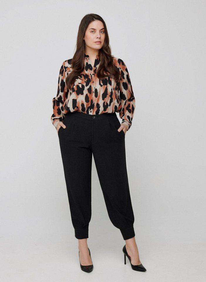 zizzi -  Stoffhose Große Größen Damen Einfarbige, lockere Hose mit Taschen