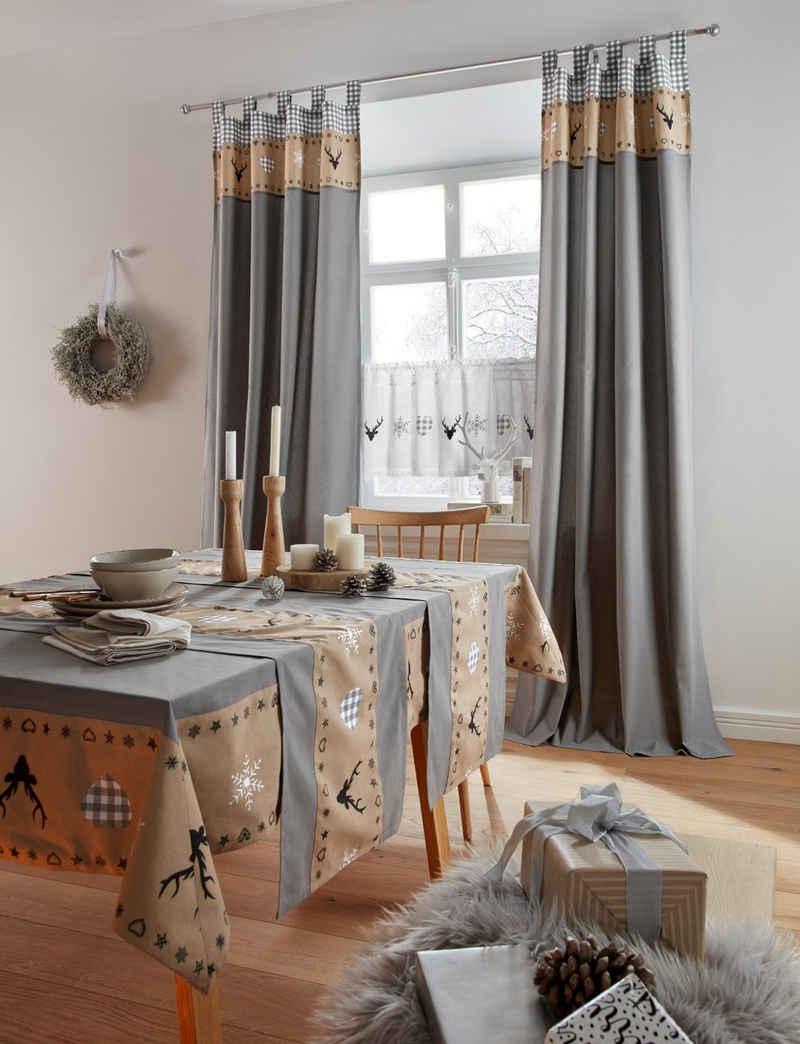 my home Tischdecke »Xaver« (1-tlg), Weihnachtsdeko