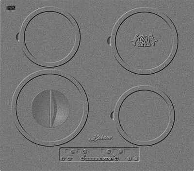 Kaiser Küchengeräte Induktions-Kochfeld KCT 6705 I Herd, 60 cm, Einbau Herd, 4 Kochzonen, Design des Gusseisen-Kochfeldes, ohne Rahmen