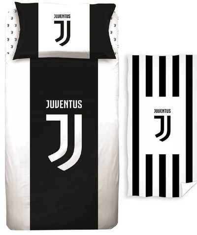 Bettwäsche »Juventus Turin - Fan-Bettwäsche-Set, 135x200 und Handtuch, 70x140 cm«, Juventus Turin, 100% Baumwolle