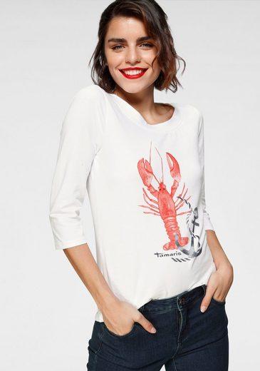 Tamaris 3/4-Arm-Shirt mit maritimem Frontprint
