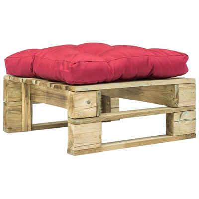 vidaXL Fundamentrahmen »vidaXL Holz Gartenhocker mit Kissen Sitzhocker Palettenmöbel mehrere Auswahl«
