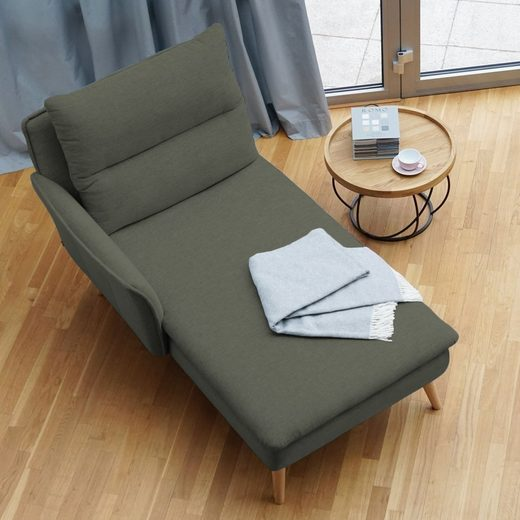 PLACE TO BE. Recamiere, Recamiere Ottomane Chaiselongue Sitzbank Polsterbank Tagesbett Daybed mit Armlehne links