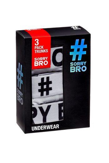 #SorryBro Boxershorts »Herren Boxershorts (3er Pack) Einfarbige - White Basic Unterwäsche (S-XXL)«