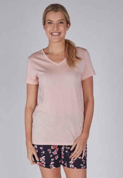 HUBER Schlafanzug »Sunset Dreams« (2-tlg) im Blüten-Design