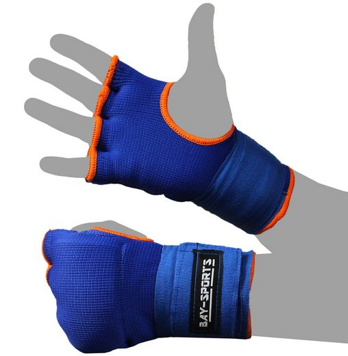 BAY-Sports Boxbandagen »Fast gepolsterte Box-Bandagen Handbandagen blau«