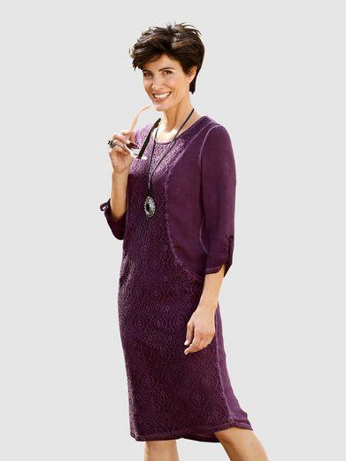 Paola Kleid in modischer oil dyed Waschung