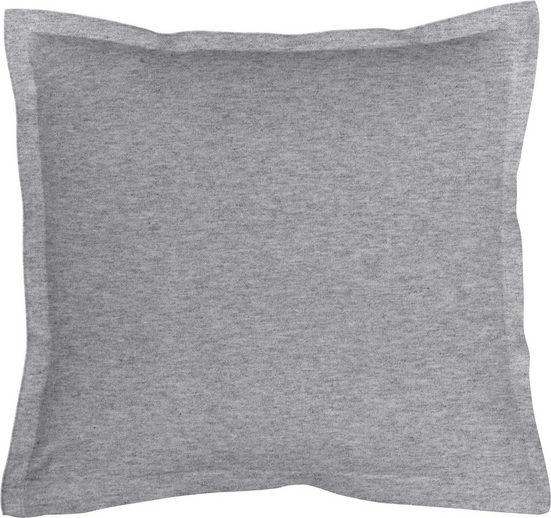 Kissenbezug »Melange Uni«, Schlafgut (1 Stück), passend zu Spannbettlaken und Bettwäsche