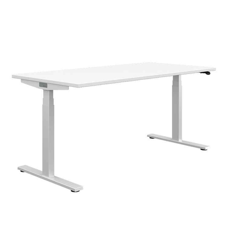 Haworth Schreibtisch »HiYa«, weißer, höhenverstellbarer Schreibtisch, elektrisch – für Büro und Homeoffice