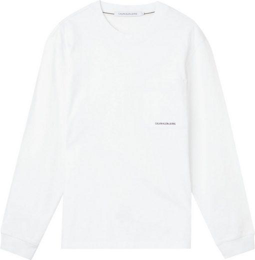 Calvin Klein Jeans Langarmshirt »MICRO BRANDING LS POCKET TEE«