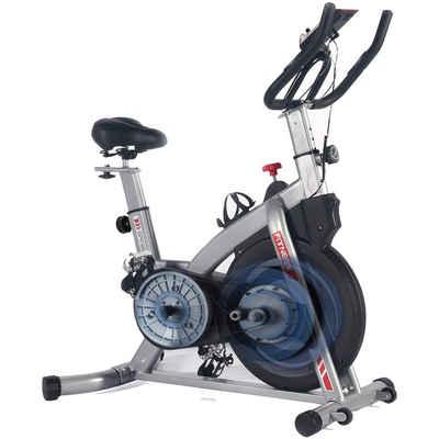 ISE Speedbike »ISE Profi Indoor Cycle Speedbike Heimtrainer mit Pulsmesser,Armauflage,gepolsterte,10 kg Schwungrad Fitnessbike SY-7020«